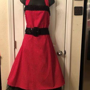 Rockabilly Swing Dress in Red